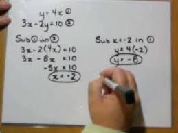 solving systems by substitution youtube