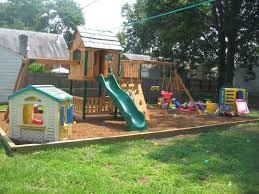Backyard Landscape Ideas On A Budget Small Backyard Landscaping Ideas For Kids With Playground Sets On