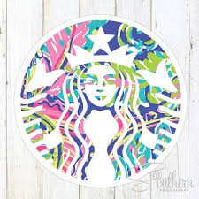 Lilly Pulitzer For Starbucks Lilly Starbucks Decal U2013 Sew Southern Designs