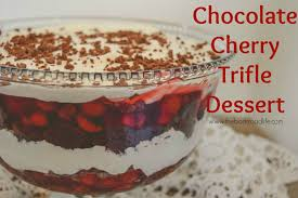 the backroad life chocolate cherry trifle dessert