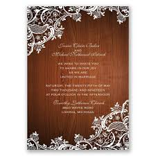 Affordable Wedding Invitations With Response Cards Lace Corners Invitation With Free Response Postcard Ann U0027s Bridal