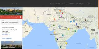 India On A Map Iitnit Choice List Generator For Josaa 2017 Know Which Iit Nit