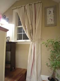pennies primitives grain sack inspired curtains
