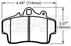porsche boxster brake pads hawk brake pad porsche boxster d737 pegasus auto racing supplies