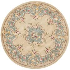 light blue round area rug safavieh heritage light blue ivory 4 ft x 4 ft round area rug