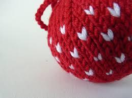 handmade by bunny bosworth tutorial hand knit chevron baubles