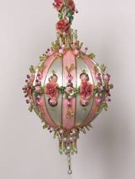 Victorian Christmas Ornaments - stunning vintage victorian style handcrafted christmas ornament