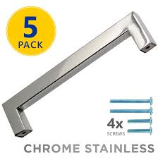 modern stainless steel kitchen cabinet pulls 5 pack chrome polished square bar cabinet pulls 5 center 128mm modern stainless steel kitchen cabinet hardware drawer handles
