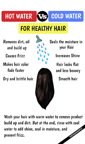 washing hair with cold water or water beauty pinterest