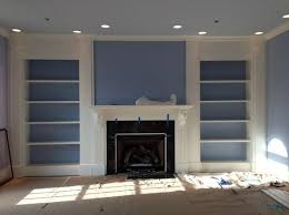 amazing how to build built in bookcases around the fireplace home
