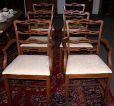Mahogany Dining Room Furniture Set Of Six Ribbon Back Mahogany Dining Room Chairs For Sale