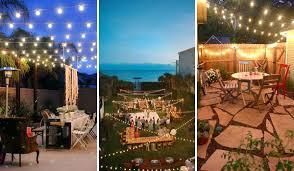 Outdoor Patio Light Ideas Outdoor Bistro String Lights String Lights And Outdoor Patio