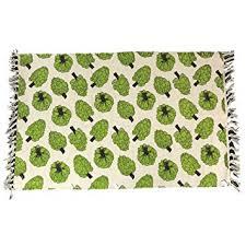Vegetable Kitchen Rugs Amazon Com Midwest Cbk Garden Vegetable Print Woven Cotton