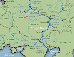 map of europe and russia rivers volga river topography map