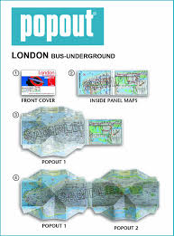 London Bus Map London Bus And Underground Popout Map Popout Maps Amazon Co Uk