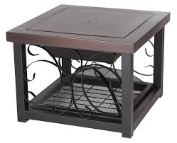 Firepit Patio Table by Amazon Com Fire Sense Cocktail Table Fire Pit Hammer Tone