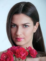 make up tips for salt and pepper hair young pretty woman model with healthy long straight brunette