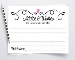 wedding wishes and advice cards wedding question and advice cards for guests printable