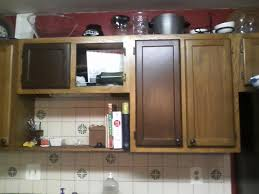 Kitchen Cabinet Restaining How To Restain Kitchen Cabinets Awesome About Remodel Home Inside