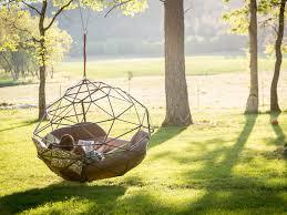 Swinging Ball Chair Floating Backyard Couch Swing Kodama Zome Business Insider
