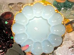 vintage deviled egg plates flea market success ramshackle glam