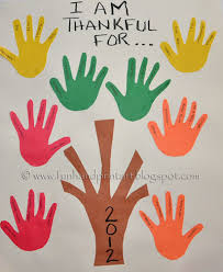 thankful handprint tree thanksgiving gratitude craft for