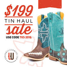 our 199 tin haul boot sale starts now urban western wear