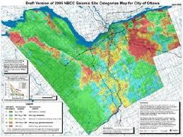 earthquake hazard map the map room ottawa earthquake hazard map