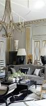 beautiful interior in hollywood regency style black and silver