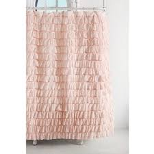 Urbanoutfitters Curtains Waterfall Ruffle Shower Curtain Pink One Size Shower Curtains By