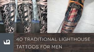 40 traditional lighthouse tattoos for men youtube