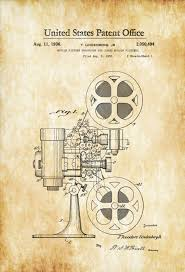 Home Movie Theater Decor Movie Projector Patent 1936 Patent Print Movie Poster