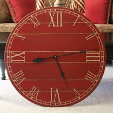 28 inch rustic wall clock large wall clock distressed clock