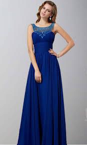 blue beading round neck tunic prom dresses ksp341 ksp341