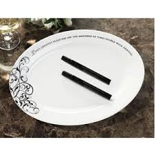 wedding signing plate oval guest signature plate with pens guest books pen sets
