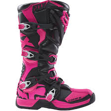 black motocross boots fox comp 5 lady black pink boots motocard