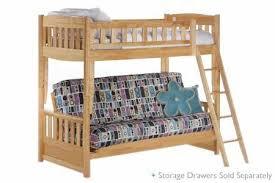 Futon Set Free Shipping Twin Full Wood Bunkbed Set The Futon Shop - Full futon bunk bed