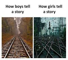 dopl3r memes how boys tell a story how tell a story