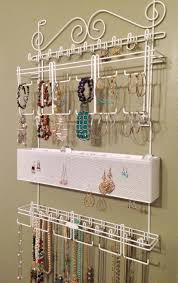 Jewelry Wall Hanger Interior Cute Necklace Wall Organizer For Better Jewelry Storage