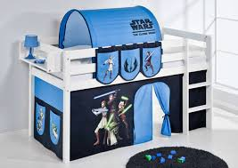 Star Wars Themed Midsleeper Bed With Tunnel Curtains  Pockets - Star wars bunk bed