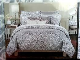 bedroom tahari bedding medallion king duvet cover set blue ivory