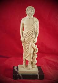 greek god statue asclepios greek god of medicine statue hex old world witchery