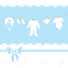 Baby Invitation Card Blue Baby Boy Shower Arrival Invitation Or Greeting Card