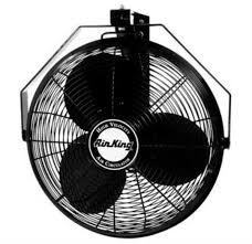 decorative wall mounted oscillating fans amazon com air king 9518 18 inch industrial grade wall mount fan
