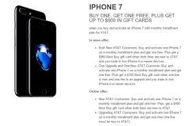 best deals on gift cards buy meets at t s free iphone 7 deal and raises it up to 900 in