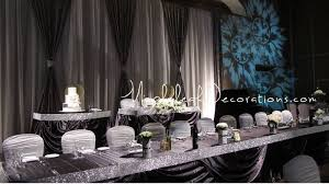 wedding backdrop rental toronto mapleleaf decorations sparkly bling pewter silver wedding