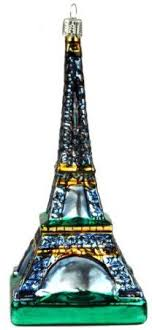 eiffel tower glass ornament ornaments