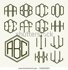 three letter monogram monogram letters stock images royalty free images vectors