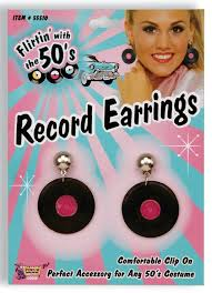 50s earrings 50s record earrings candy apple costumes 50 s costumes