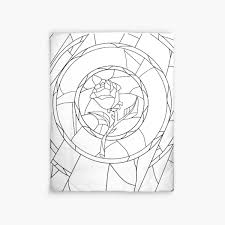 Glass Rose Stained Glass Rose White